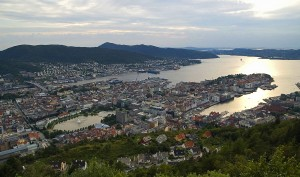 Bergen, view from Fløyen