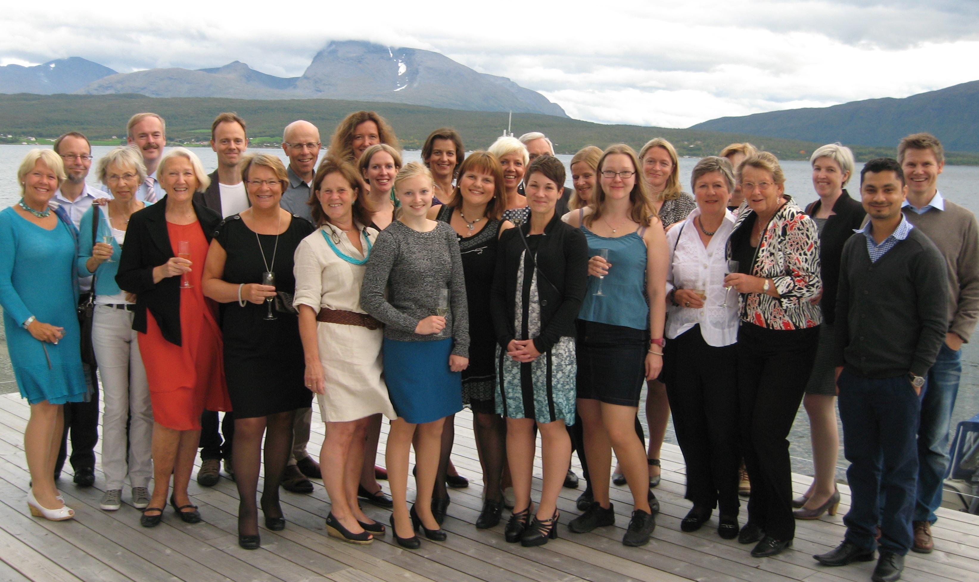 Workshop participants in Malangen Brygger